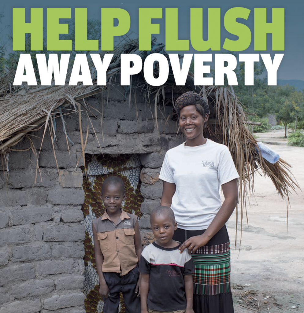 Help flush away poverty